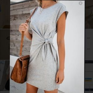 Vici Knot Over You Cotton Dress